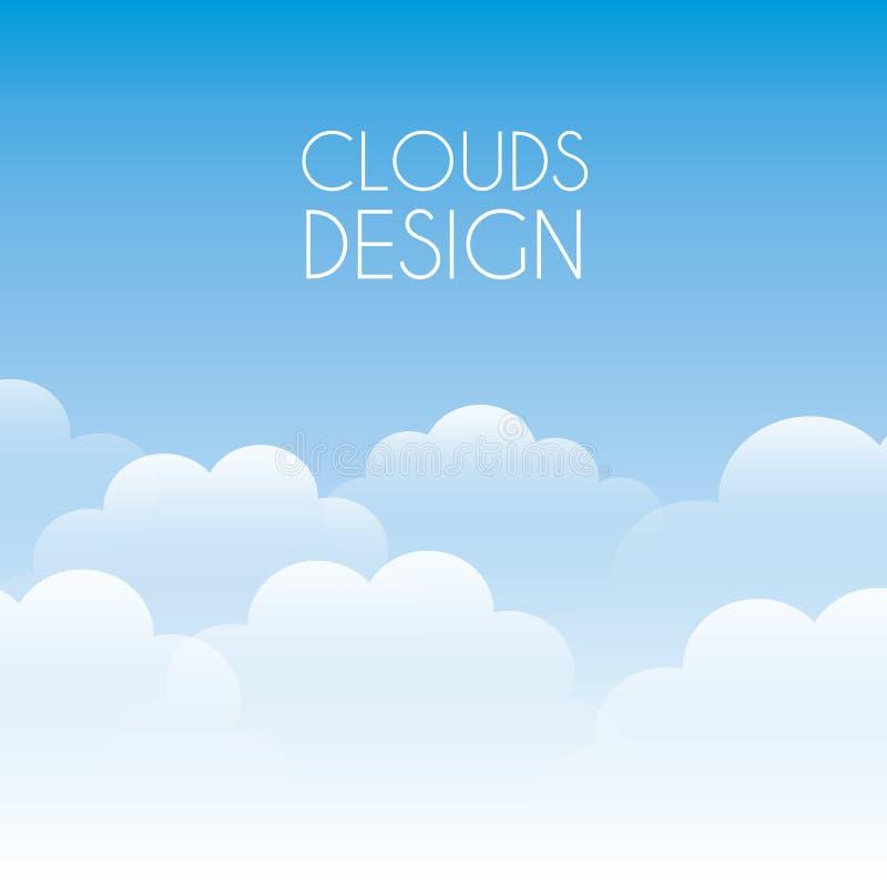 Wolkenontwerp vector illustratie