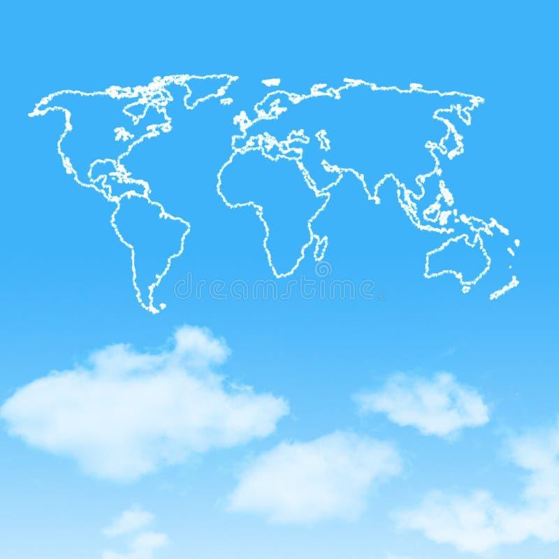 wolkenpictogram met ontwerp op blauwe hemel stock illustratie
