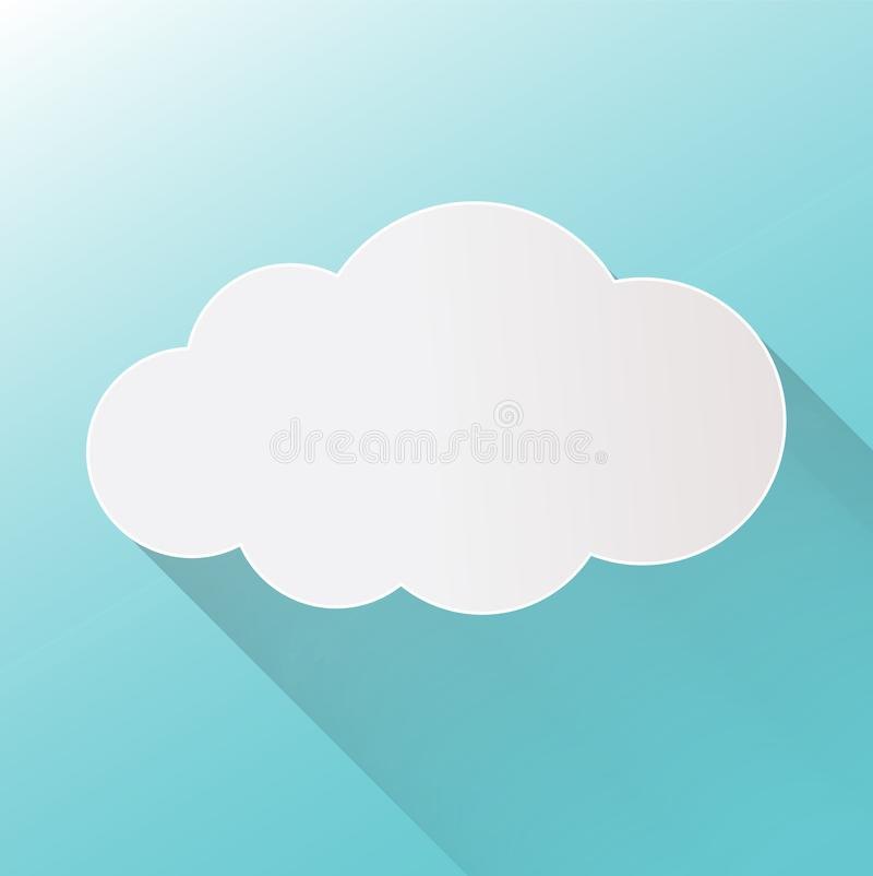 Wolkenpictogram op achtergrond Vecto van de wolken vlakke illustratie royalty-vrije illustratie