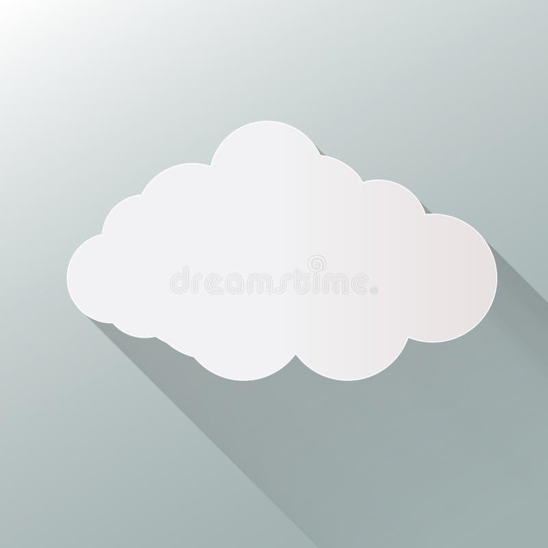 Wolkenpictogram op achtergrond Vector van de wolken de vlakke illustratie EPS10 formaat royalty-vrije illustratie