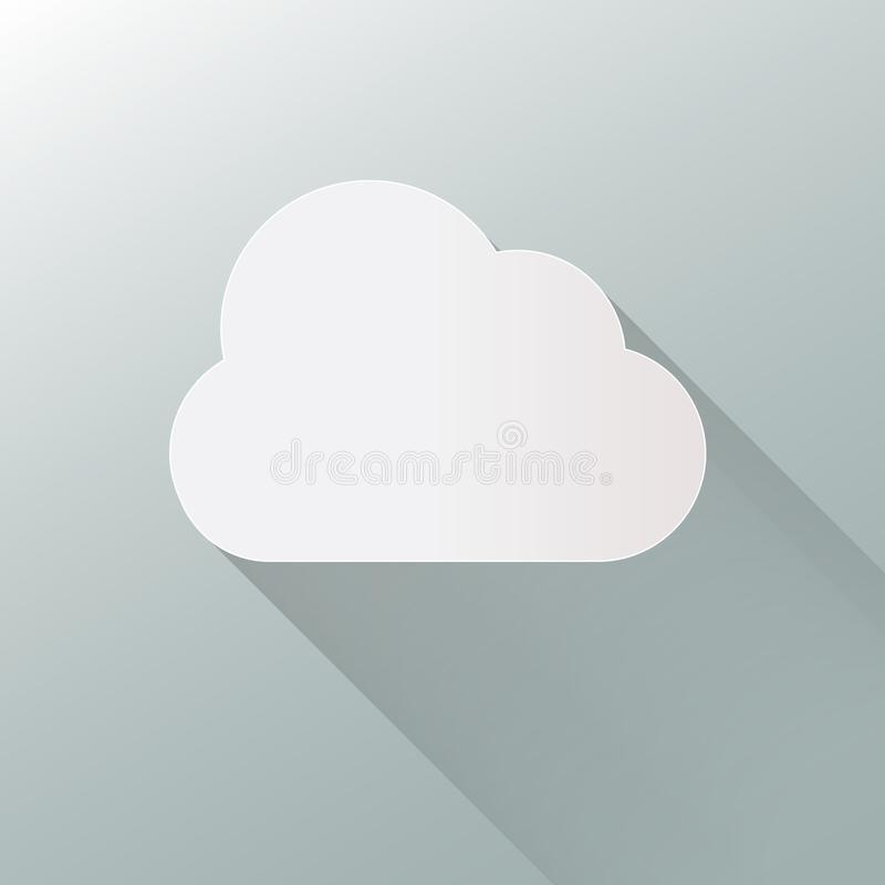 Wolkenpictogram op achtergrond Vector van de wolken de vlakke illustratie EPS10 formaat stock illustratie