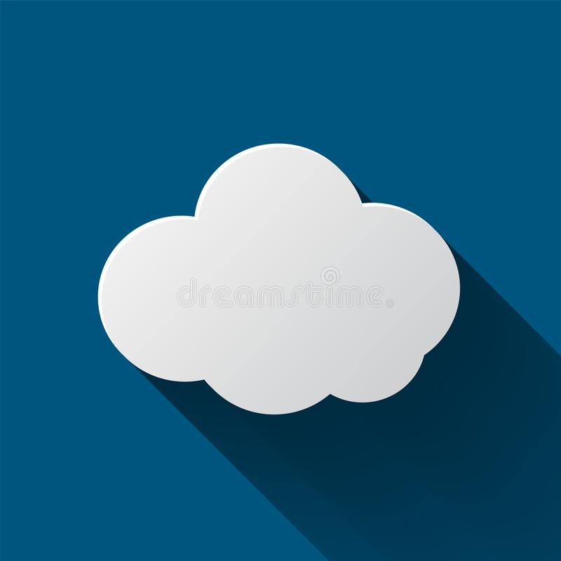 Wolkenpictogram op achtergrond wordt geïsoleerd die Wolken vlakke illustratie royalty-vrije illustratie