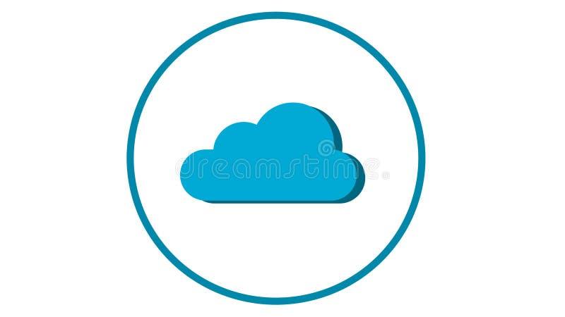 Wolkenpictogram voor Web of App Ontwikkeling vector illustratie