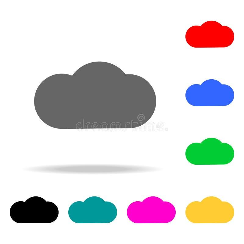 Wolkenpictogrammen Elementen van menselijke Web gekleurde pictogrammen Grafisch het ontwerppictogram van de premiekwaliteit Eenvo vector illustratie