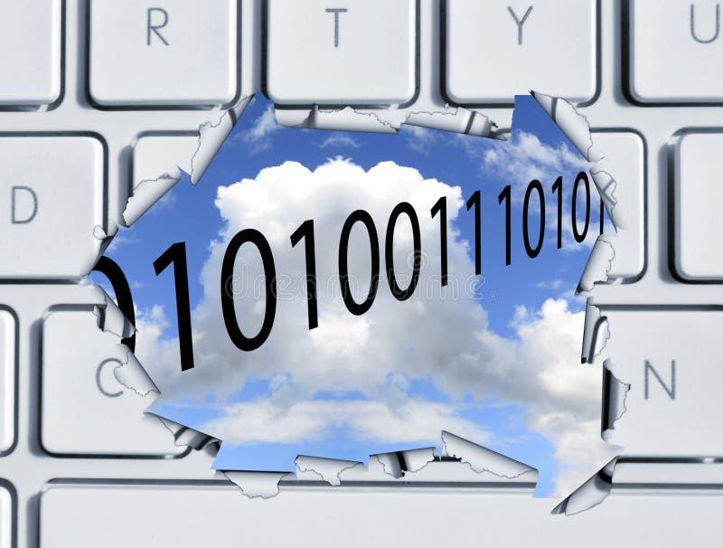 Wolkenspeicher stockfotografie