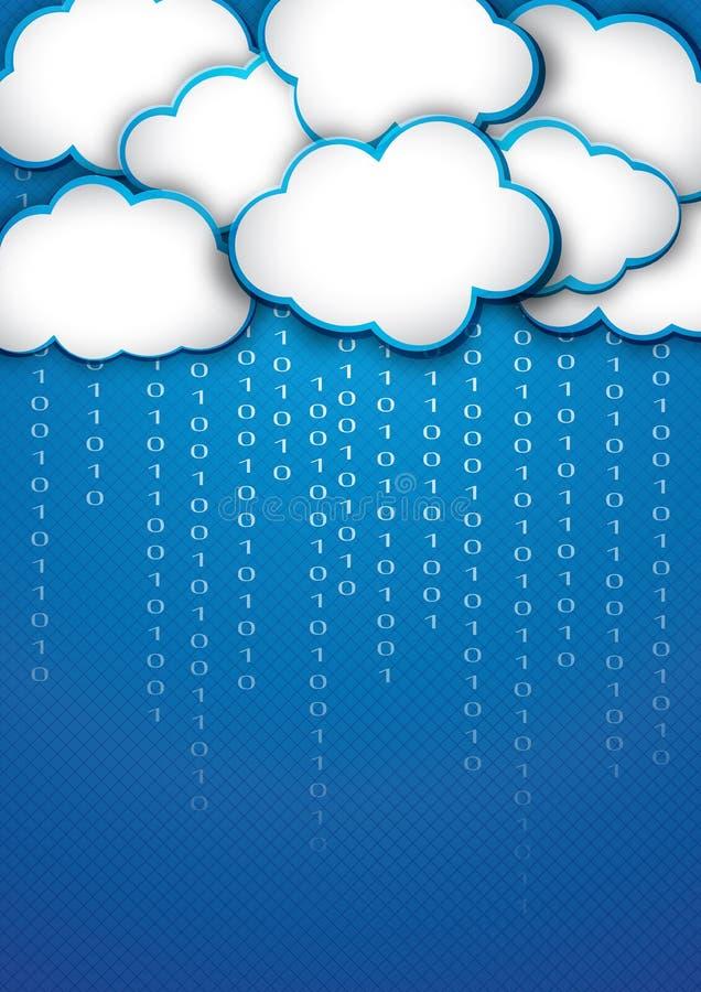 Wolkenspeicher lizenzfreie abbildung