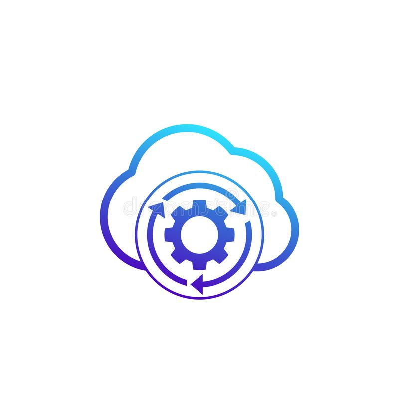 Wolkenspeichereinstellungen, Konfiguration bewirtend vektor abbildung