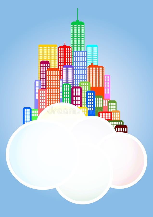 Wolkenstadt lizenzfreie abbildung