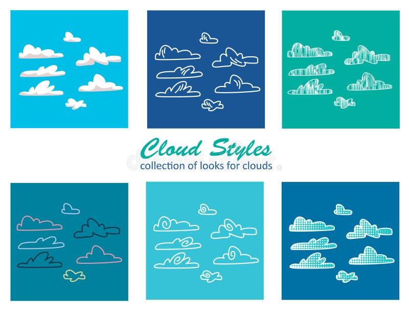 Wolkenstijlen stock illustratie