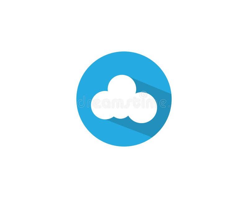 Wolkentechnologievektor-Logoschablone stock abbildung