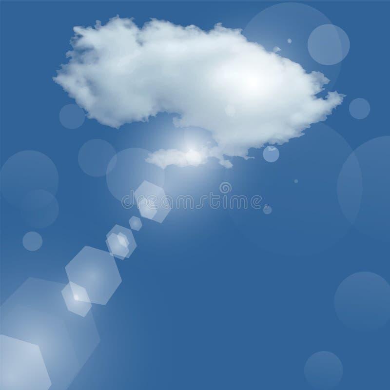 Wolkenzonnestraal stock illustratie