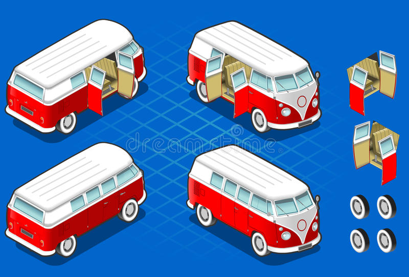 Wolkswagena autobus ilustracji