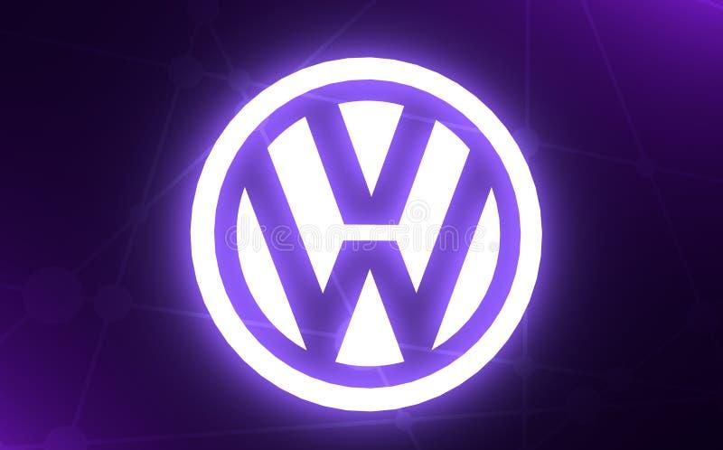 Wolkswagena samochodu emblemat obrazy stock