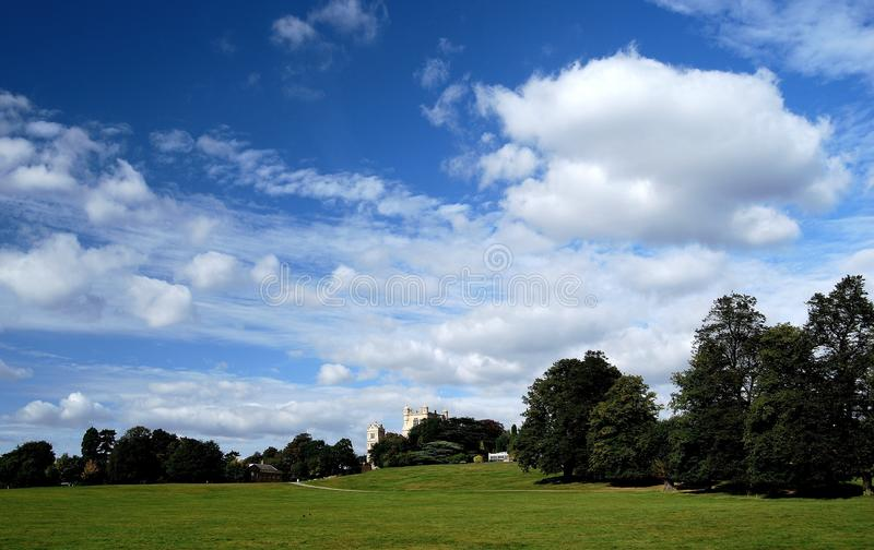 Wollaton hall. Nottingham, england. Elizabethan country house and grounds used in the chris nolan batman trilogy stock photos