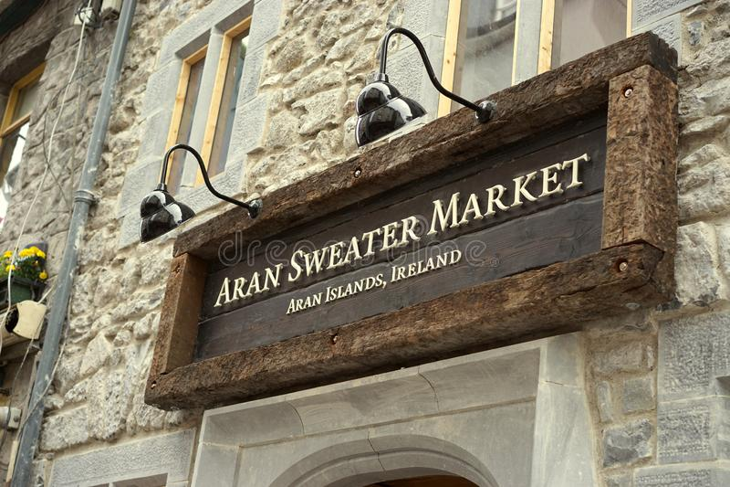 Wolle ist das Wort in Irland lizenzfreie stockfotografie