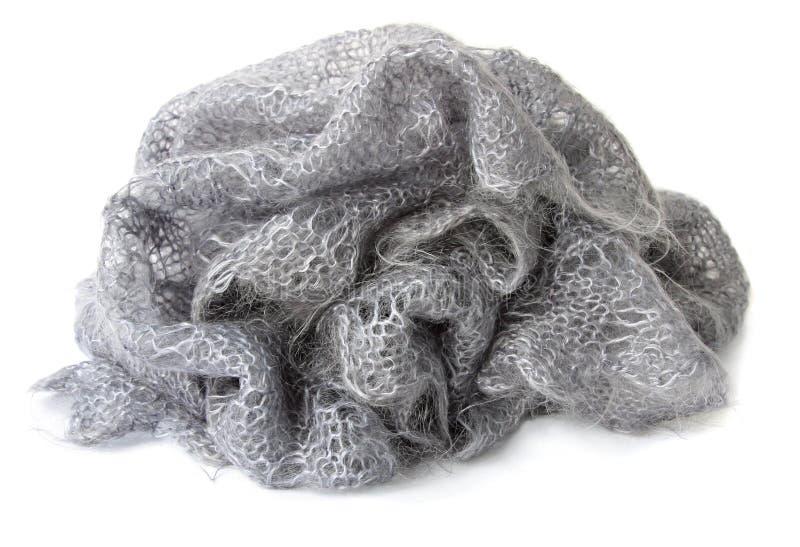 Wollen donsachtige sjaal stock afbeelding