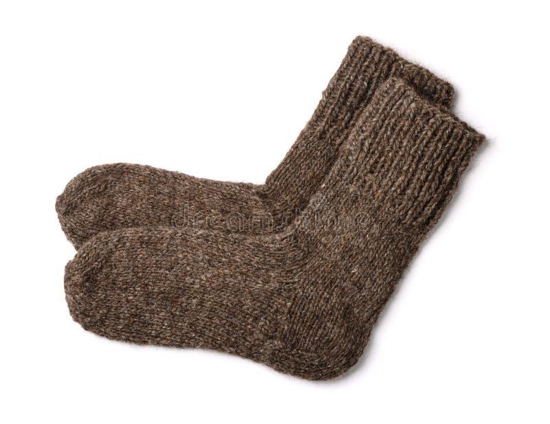 Wollen sokken royalty-vrije stock fotografie