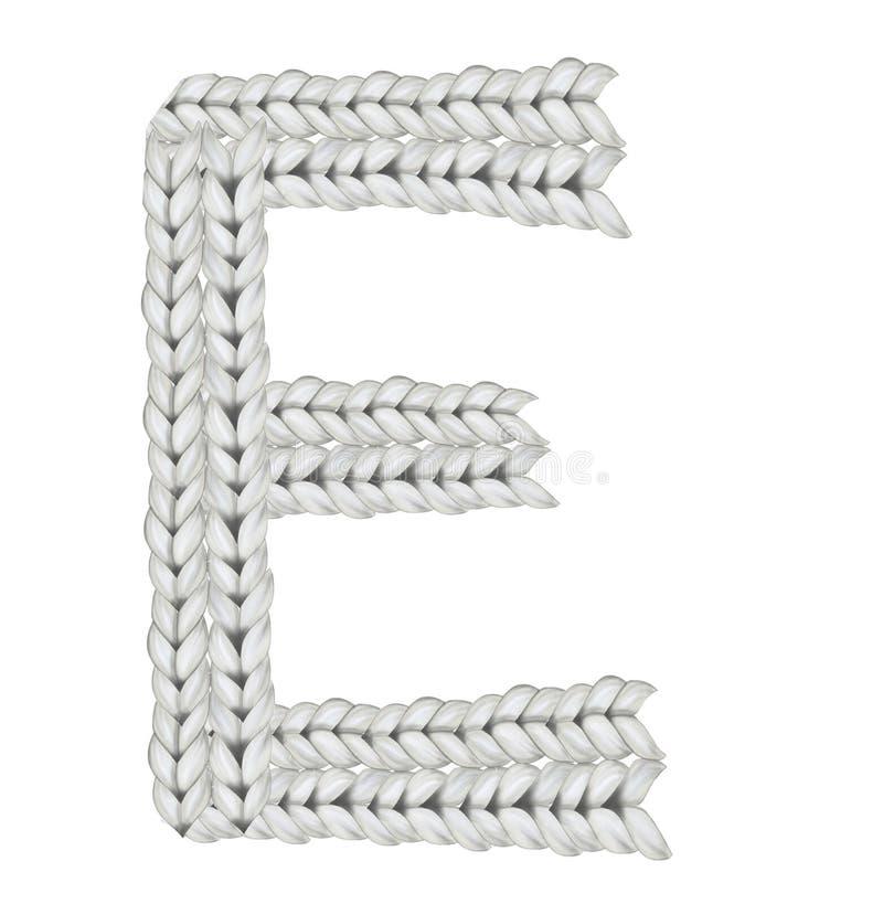 Wollguß u. x28; Knoten font& x29; lizenzfreies stockbild