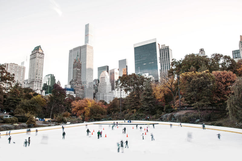 Wollman Ice Rink - Central Park, New York City, USA royalty free stock photo