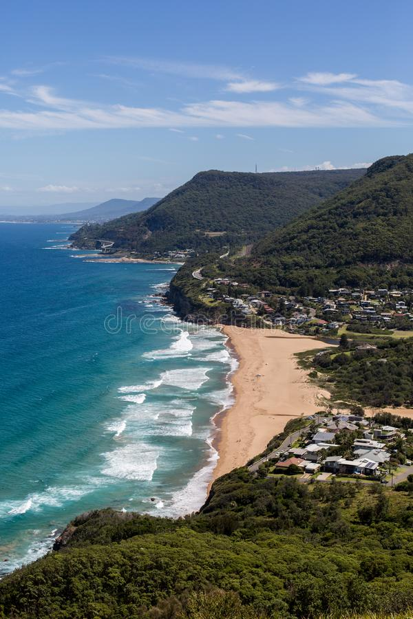 Wollongong,澳洲 海边,海洋 免版税库存照片