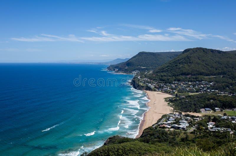 Wollongong,澳洲 海边,海洋 免版税库存图片