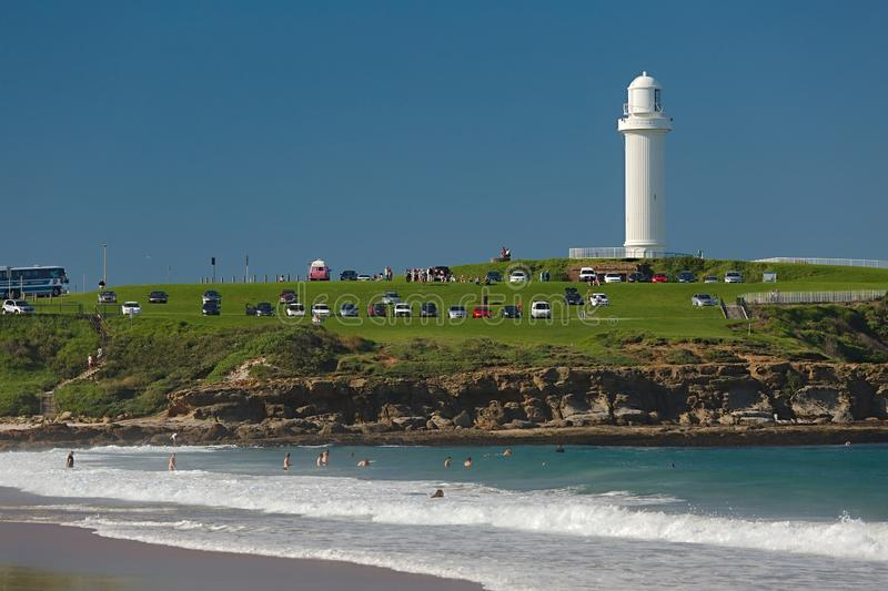 Wollongong Lighthouse, Flagstaff Hill Park royalty free stock photos