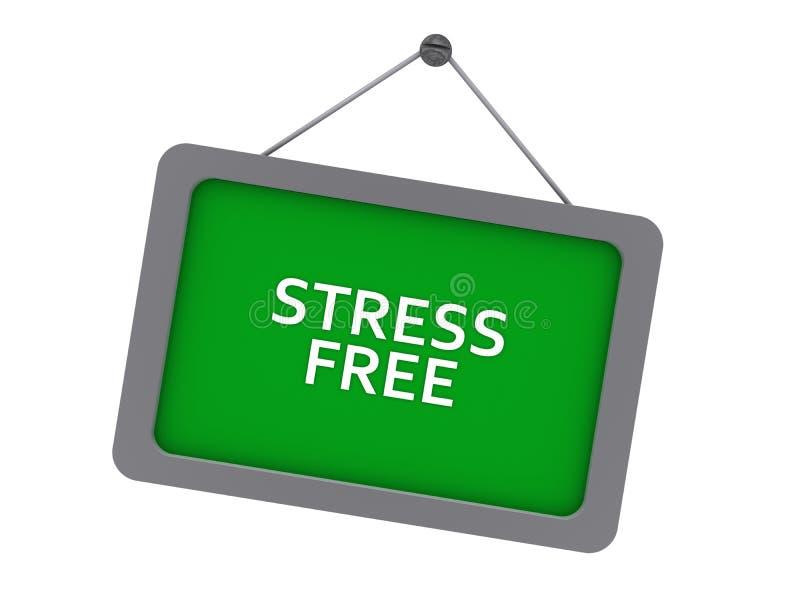 wolne od stresu ilustracja wektor