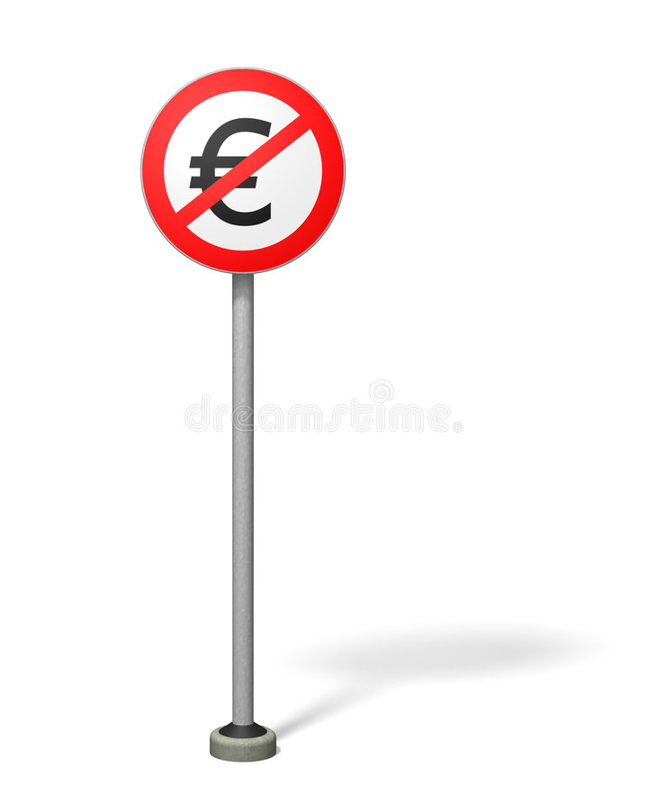 wolnej strefy euro ilustracja wektor