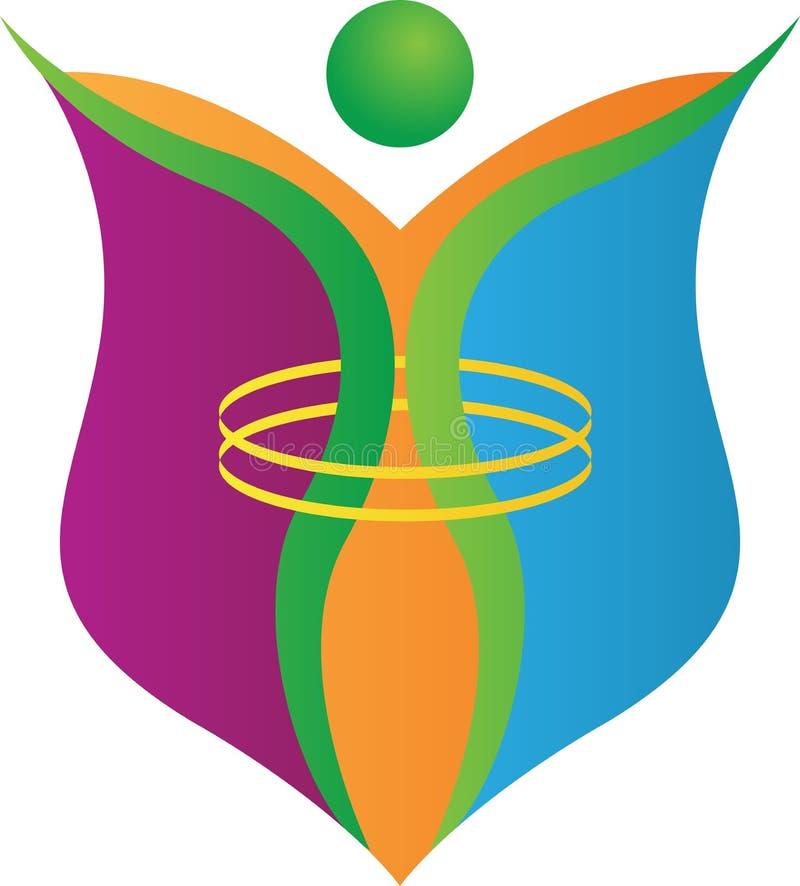 Wolność logo ilustracja wektor