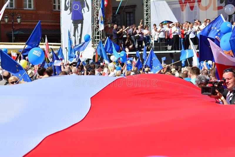 Wolność Marzec Słupy maszerują potępiać rzędu, żlobi demokrację fotografia stock