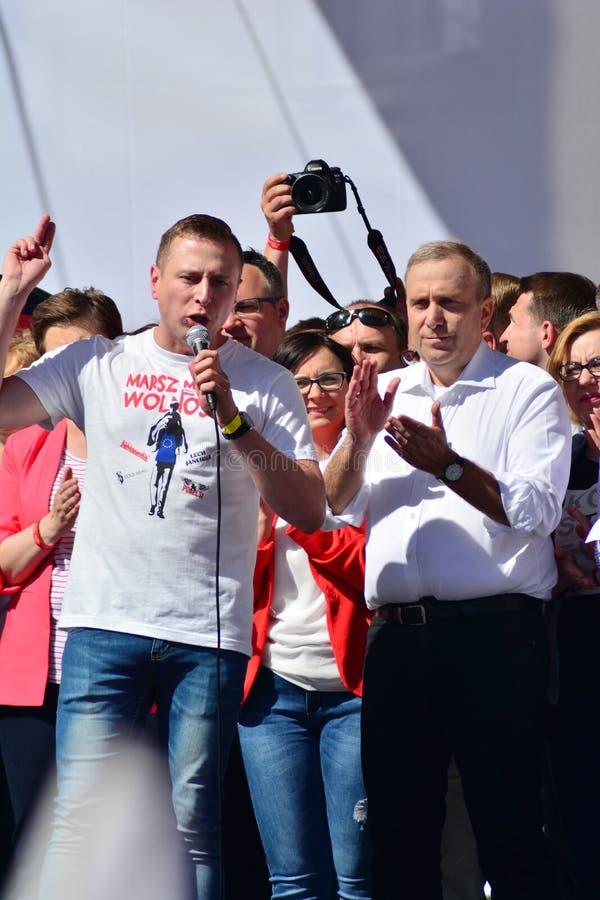 Wolność Marzec Słupy maszerują potępiać rzędu, żlobi demokrację zdjęcie stock
