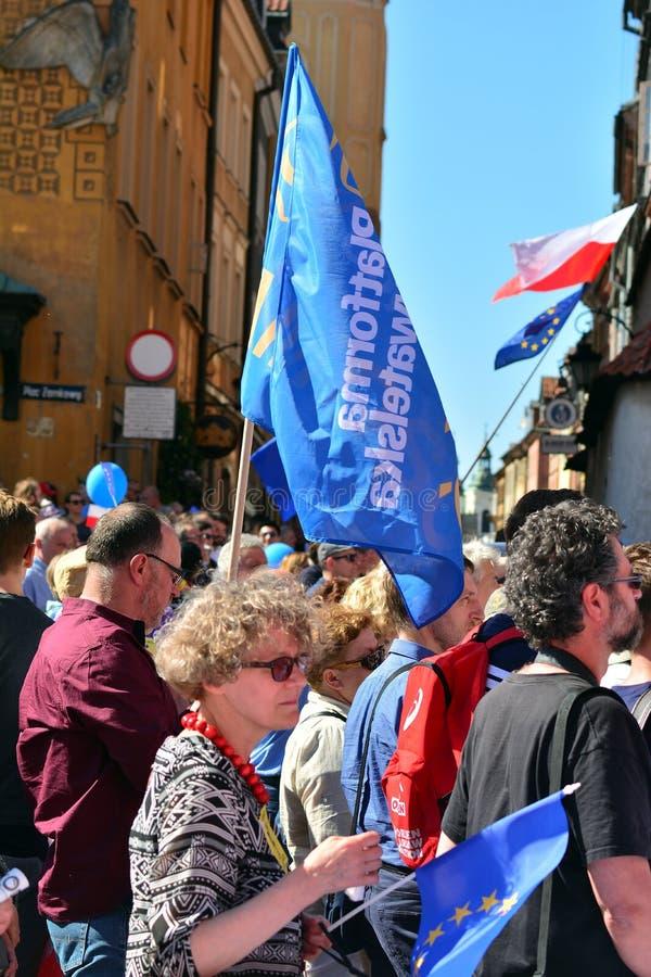 Wolność Marzec Słupy maszerują potępiać rzędu, żlobi demokrację obraz stock