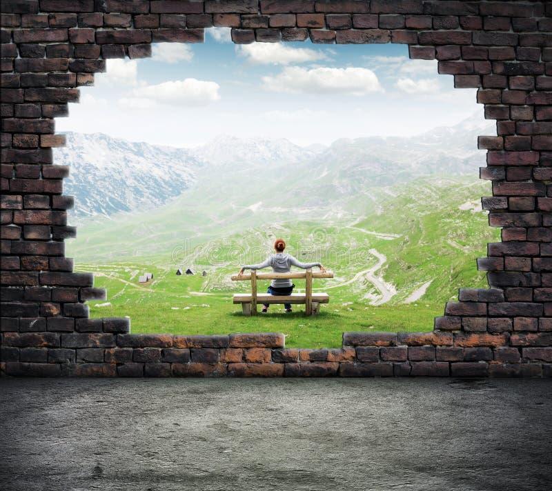 wolność okno obraz stock