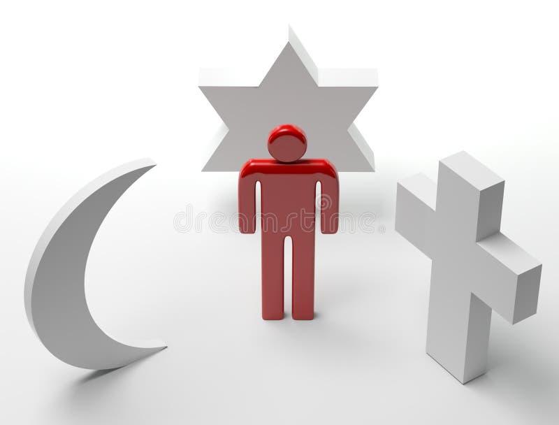 wolność religijna royalty ilustracja