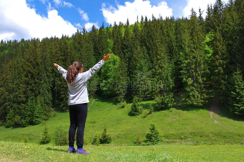 Wolność w górach fotografia royalty free
