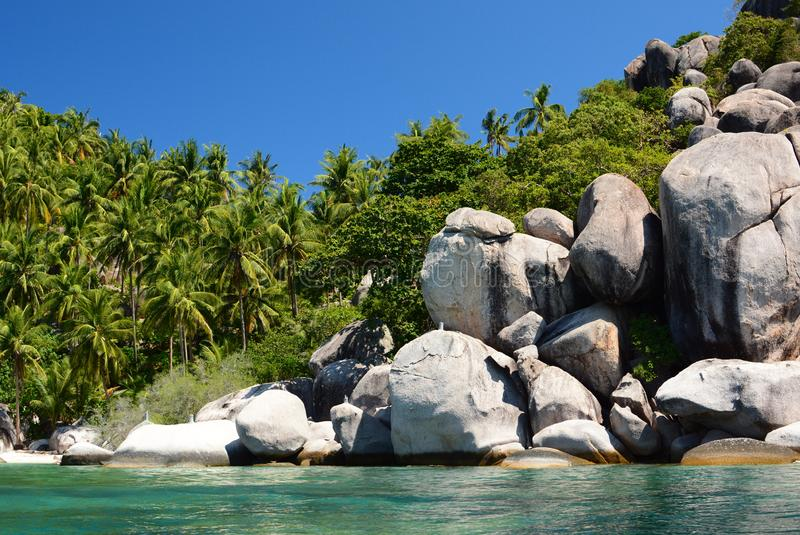 Wolności plaża koh Tao Chumphon archipelag Tajlandia obrazy stock