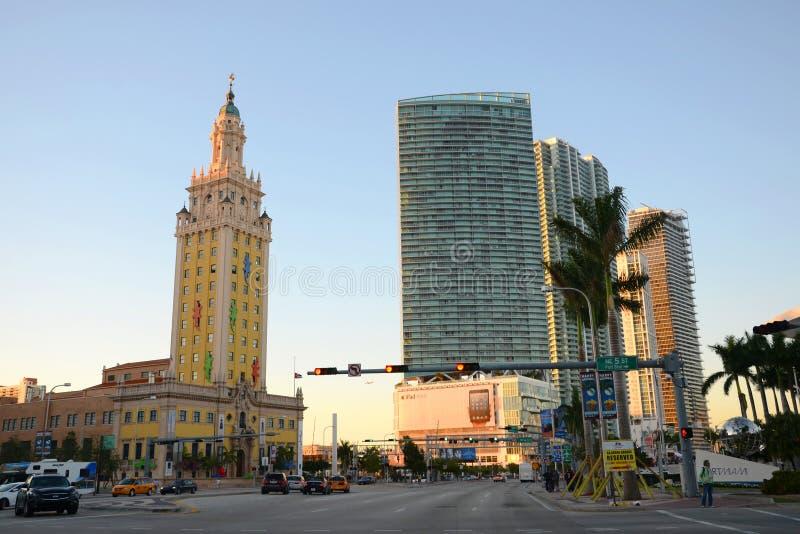 Download Wolności wierza w Miami obraz stock editorial. Obraz złożonej z zmierzch - 28997769