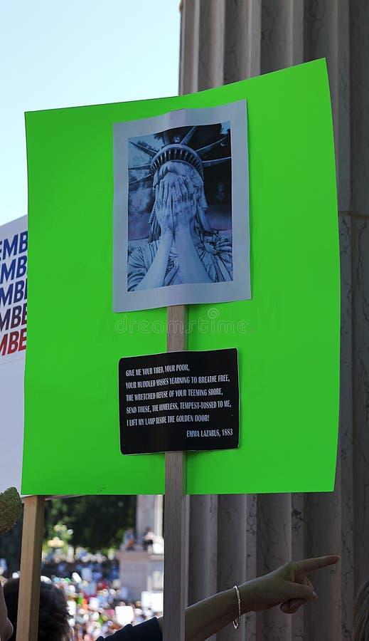 Wolno?? dla imigranta Mszalnego wiecu i Marzec w Denver fotografia stock
