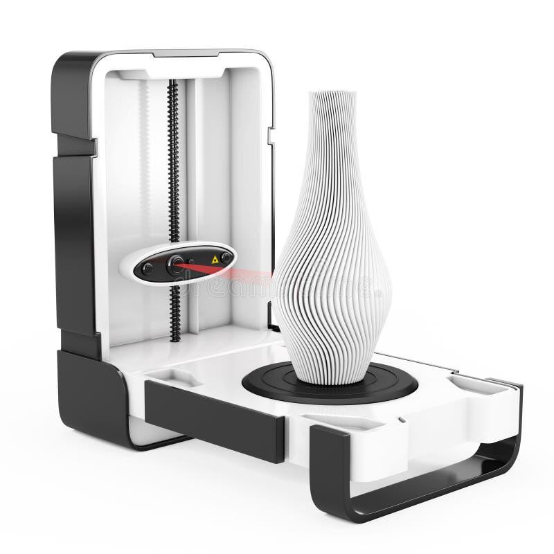 Wolno Stojący Nowożytny Desktop domu 3D przeszukiwacza skanerowania abstrakt M royalty ilustracja