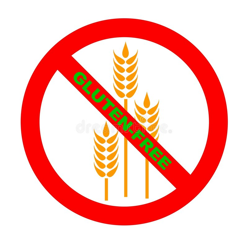 wolny gf glutenu symbolu tekst royalty ilustracja