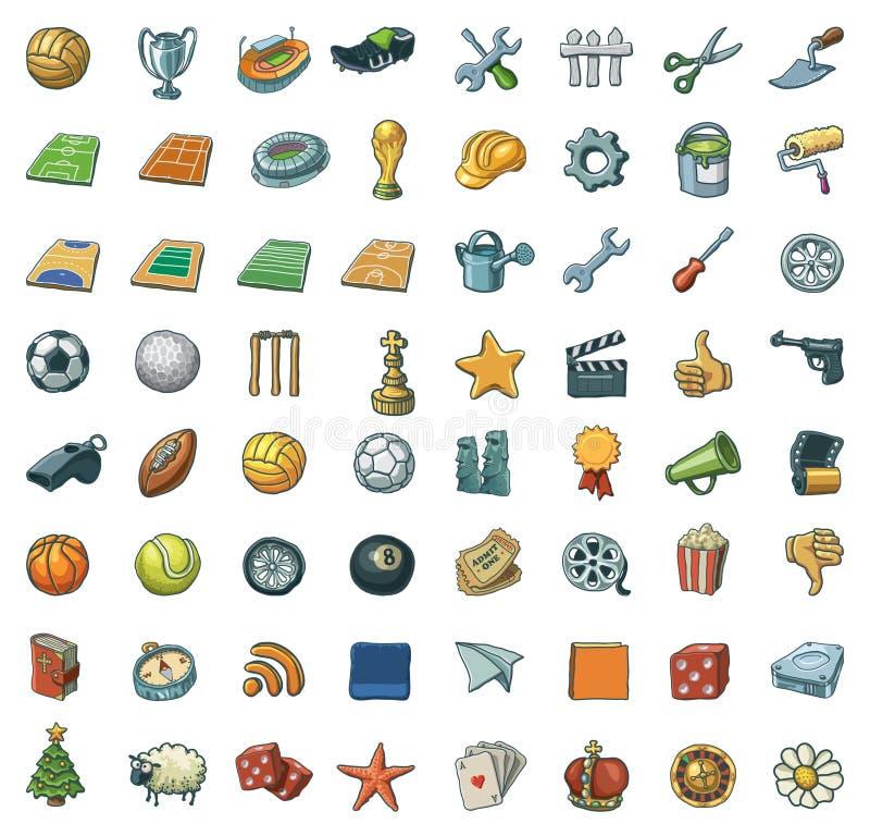 wolnych ręk asortowane ikony ilustracji