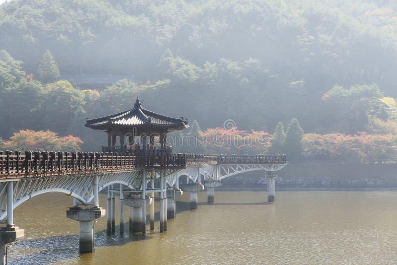 Wolryeong-gyo w Andong mieście fotografia royalty free