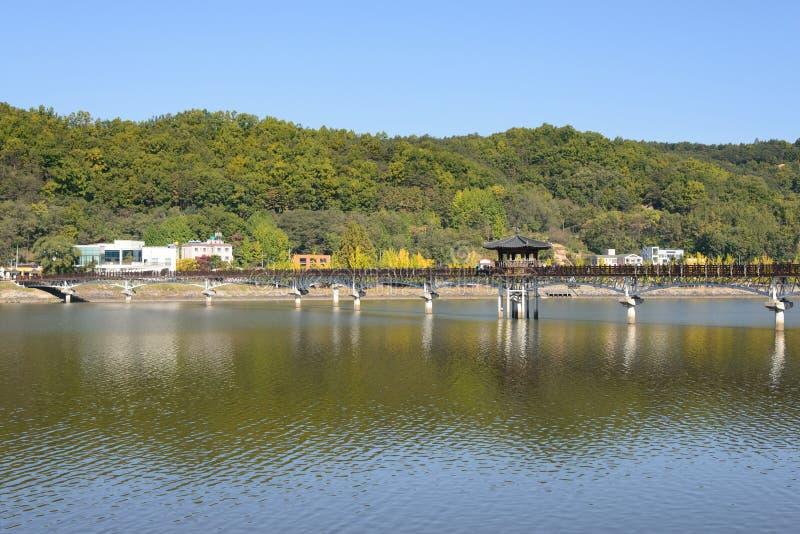 Wolryeong-gyo w Andong mieście zdjęcie royalty free