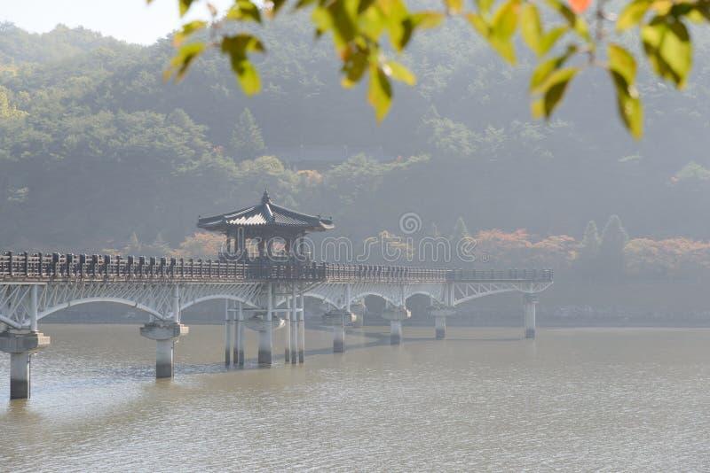 Wolryeong most w Andong mieście zdjęcie stock