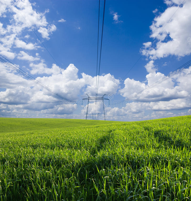 Download Woltage lines stock image. Image of tower, energetic - 15276577