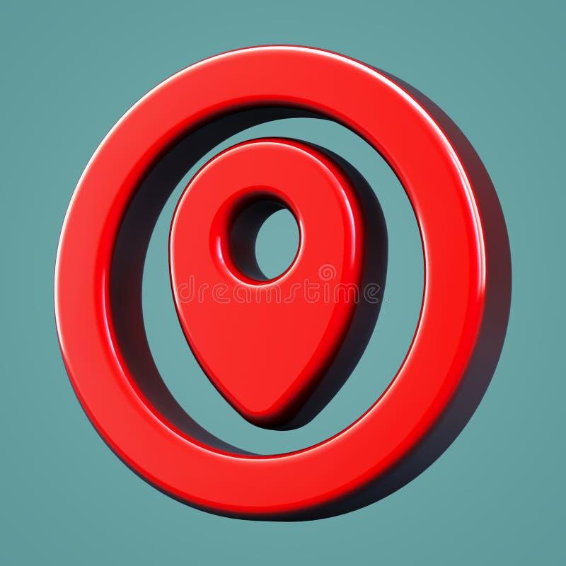 Wolumetryczna punkt kontrolny ikona ilustracji