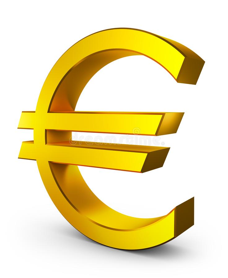 Wolumetryczny euro znak ilustracji