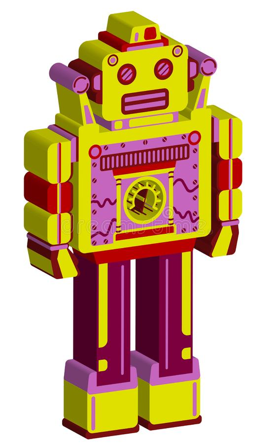 Wolumetryczny koloru robot na białym tle zdjęcia stock