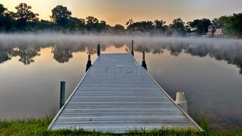 Dawn On The Lake - Pure Michigan stock photo
