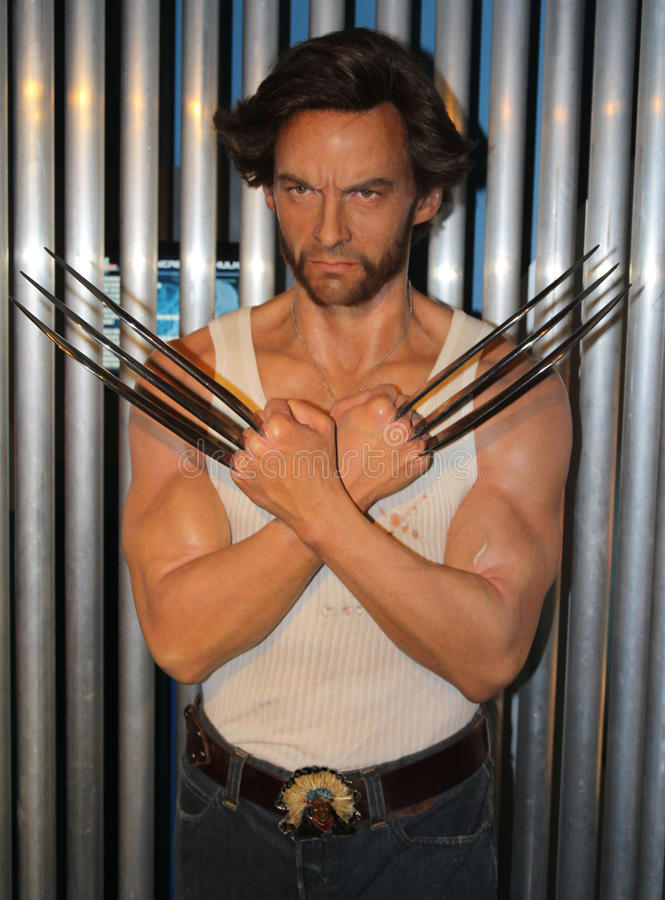 Wolverine at Madame Tussaud's stock images